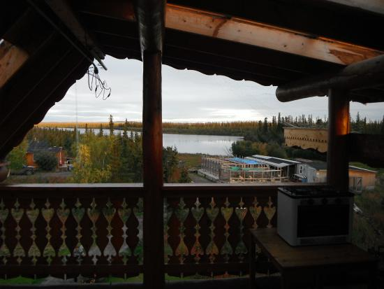 The Arctic Chalet Resort: view from room in main lodge