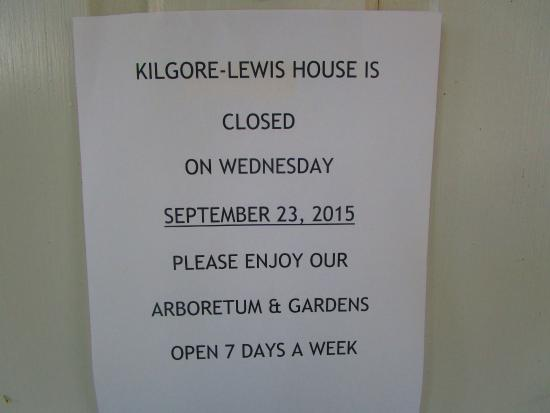 Kilgore Lewis House: The Dreaded Note