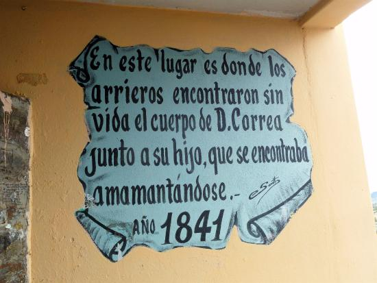 Oratorio de la Difunta Correa: Targa della Difunta