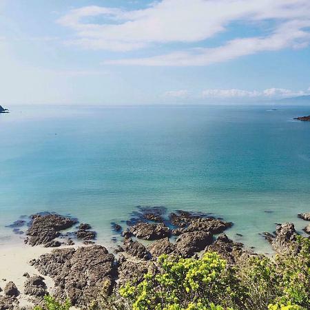 Νήσος Γουαϊχέκε, Νέα Ζηλανδία: Stunning view overlooking Oneroa Bay and the Hauraki Gulf.