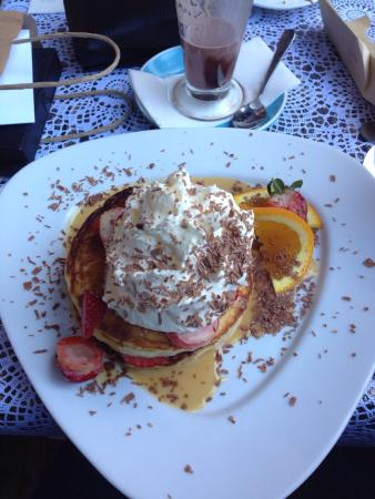 """Cupz 'N' Crepes: Yum! This is the """"Strawnoffi Crepe"""", and it's my personal favourite. I'd recommend it to any swe"""