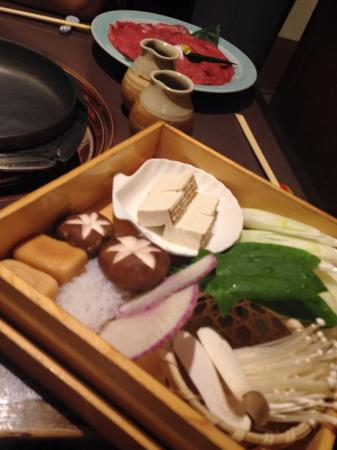 Ginza Rangetsu: お野菜の美しい盛り付けに感動