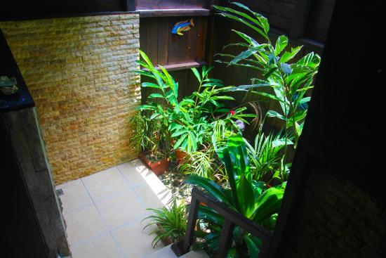 Red Frog Bungalows: Our Beautiful private outdoor showers