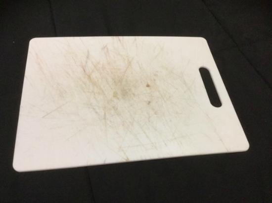 Dirty cutting board