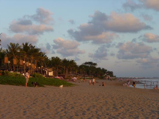 Seminyak beach at La Lucciola's