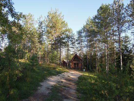 Antonne-et-Trigonant, Prancis: camping Huttopia Lanmary, huur accomodatie