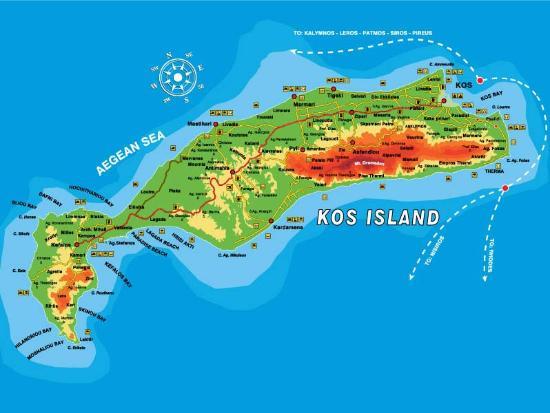 Map of kos picture of silia tours tigaki tripadvisor silia tours map of kos gumiabroncs Gallery