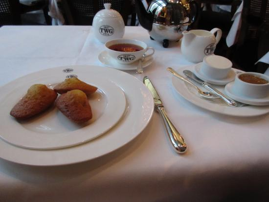TWG Tea at Republic Plaza: Tea with pastry