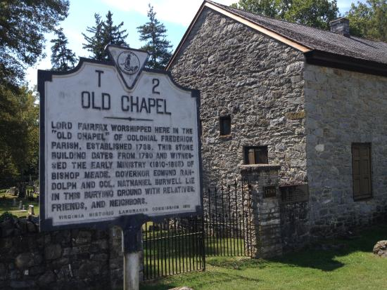 Boyce, VA: Roadside sign in front of Old Chapel