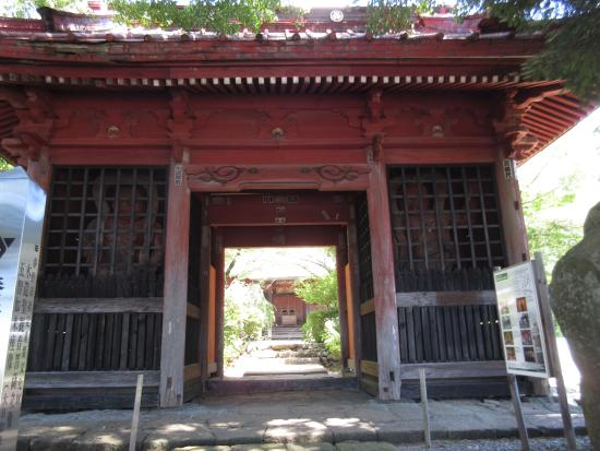 Dainichi-do Shrine : 入り口の仁王門 迫力有ります