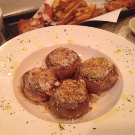 Stuffed Mushroom Meatballs Angel Hair Battered Chicken With Chips