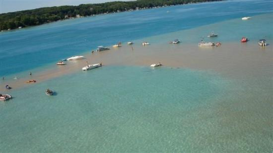 Rapid City, MI: Torch Lake Sandbar