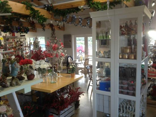 christmas decorations and cafe area picture of pine cone cafe rh tripadvisor co za