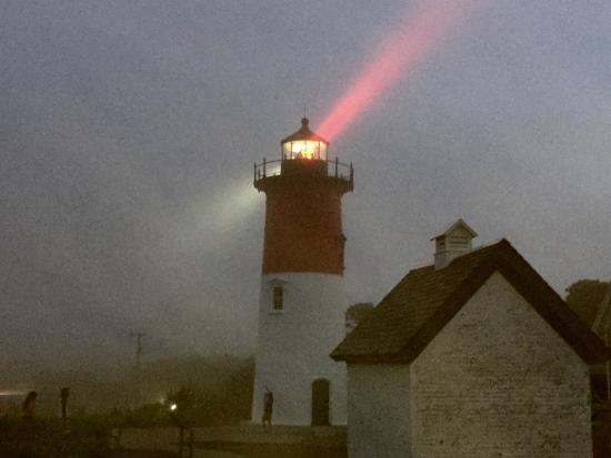 Nauset Light: The Beams Stand Out on a Foggy Evening
