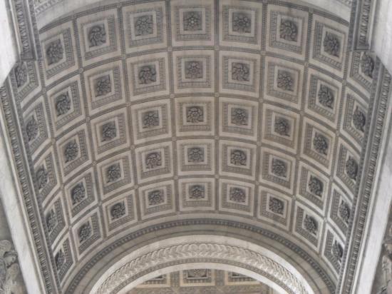 vue du haut de l u0026 39 arc de triomphe
