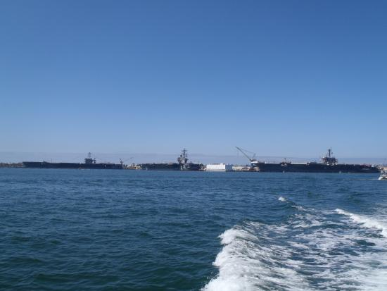 3 Aircraft Carriers Docked In San Diego Harbor Picture