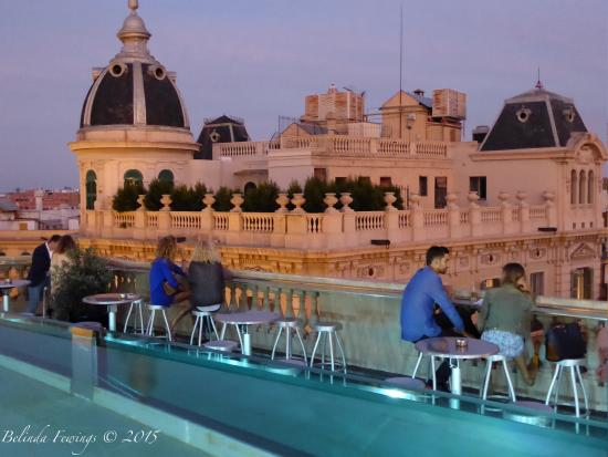 hotel rooftop pool at night picture of hotel ohla barcelona rh tripadvisor co za