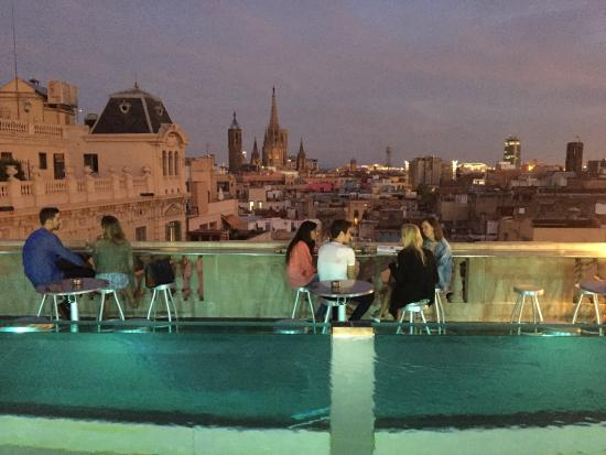 infinity pool and terrace bar by night picture of hotel ohla rh tripadvisor co za