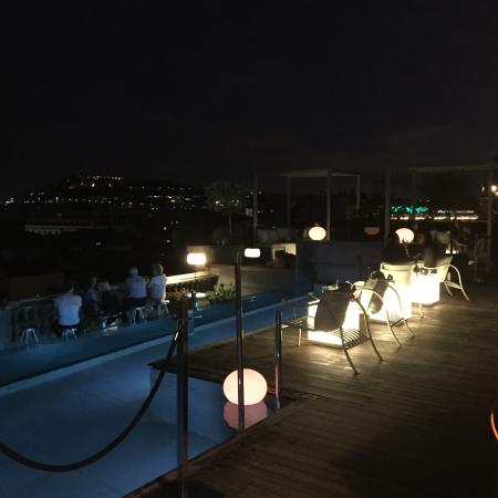 night time on the terrace picture of hotel ohla barcelona rh tripadvisor co za