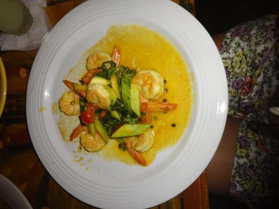 Essa é a foto do meu prato - Camarão ao Chef - 74 reais por 6 camarões
