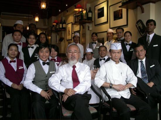 The Tavern Restaurant: The year of 2008 , staffs all together.