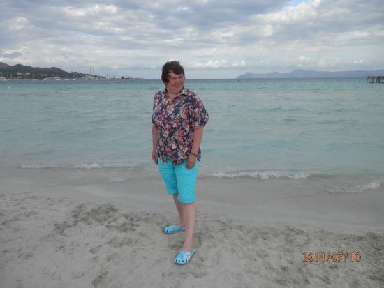 Aucanada Beach : Первый день было немного пасмурно