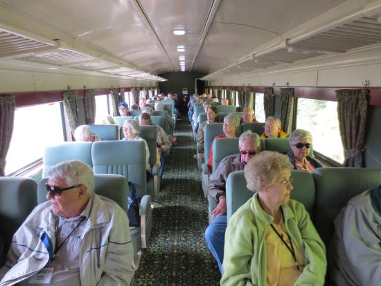 Maine Eastern Railroad: inside coach