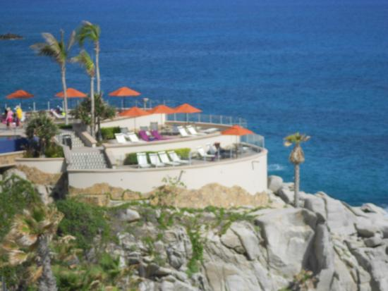 pool deck overlooking the sea and view of the el arco picture of rh tripadvisor com