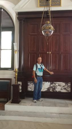 St. Thomas Synagogue: Standing In Front Of Torah Cabinet