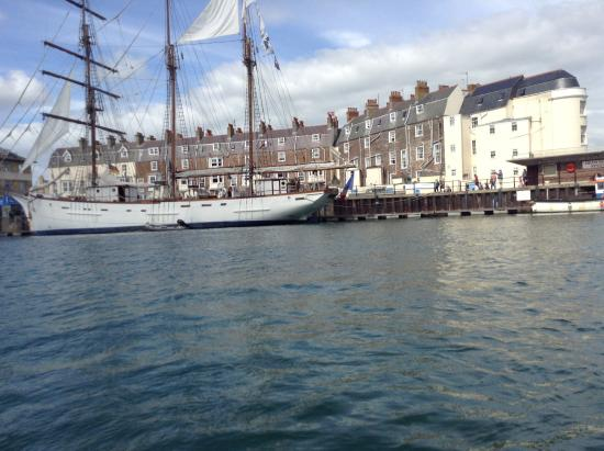Weymouth, UK: ship in the harbour