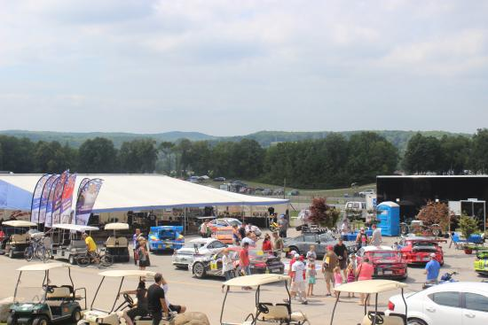 Elkhart Lake, WI: Nature and pit crews in one vista.