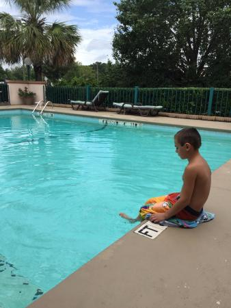 Quality Inn Goose Creek: my little nephew enjoying the pool