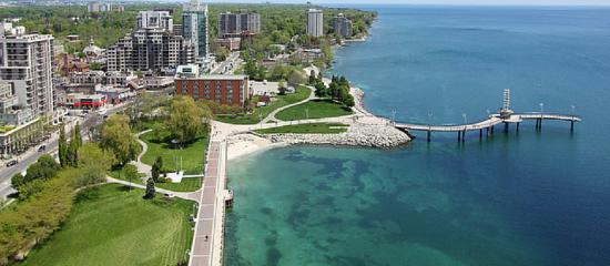 Burlington (ON) Canada  city photo : Burlington, Canada: Aerial View of Waterfront