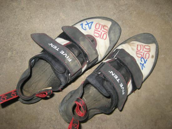 Adam's Rock climbing school : These shoes left my feet in pain