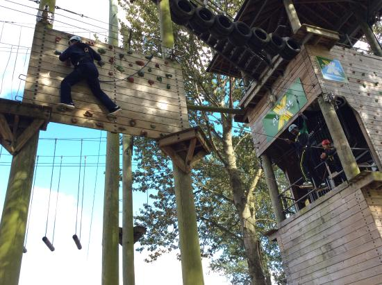 Treetop Extreme: Me trying to get to the other side of the wall in one piece :)