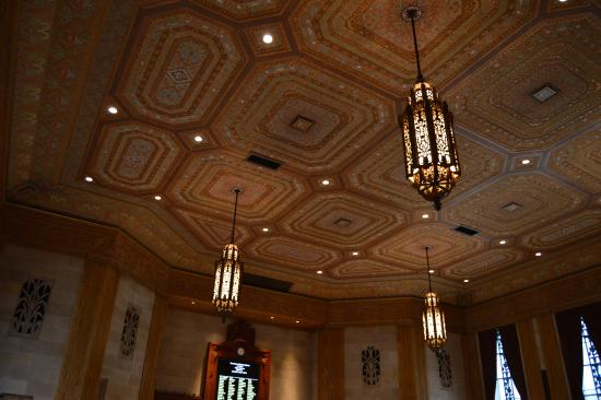 Louisiana State Capitol Lighting And Ceiling In Chambers