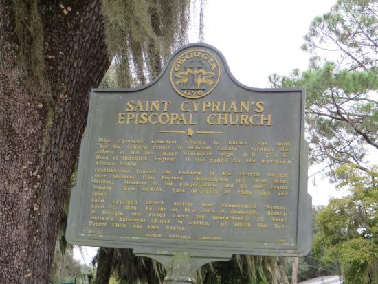 St. Cyprian's Episcopal Church: Historic Marker