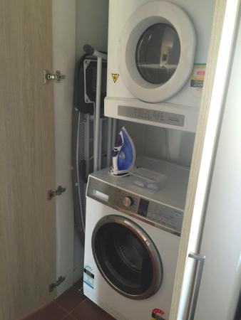 Washer/dryer in our 3rd floor 1 Bedroom Std Apt at Emu Walk ...
