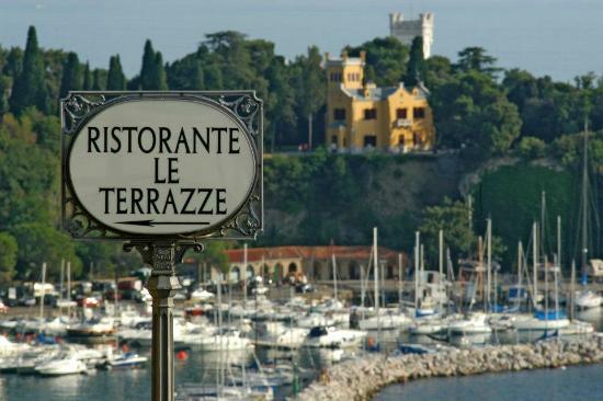 Vista sul Castello di Miramare - Picture of Ristorante Le Terrazze ...