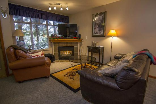Stoney Creek Resort: Cozy living rooms with gas fireplace