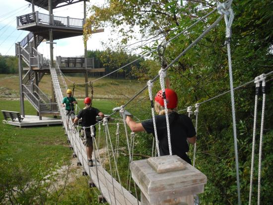 Lake Geneva Canopy Tours Walking To The Grand Finale