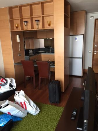 Travel Suites: cocina y stay room