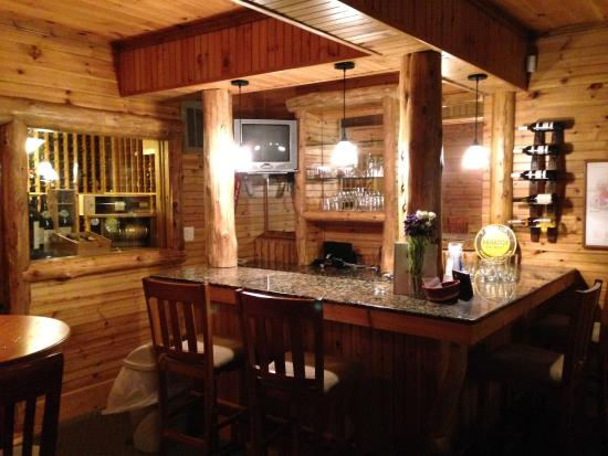Chestertown, NY: The downstairs bar and wine cellar