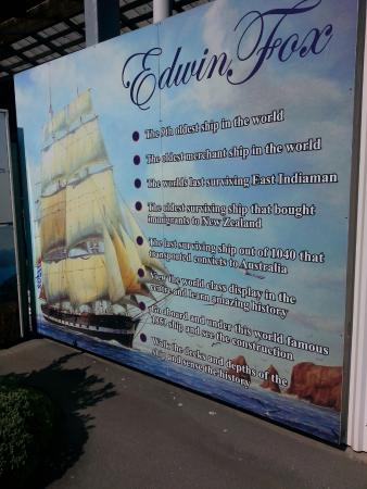 Edwin Fox Maritime Museum: Information board