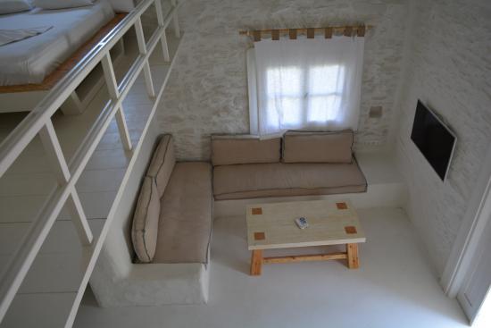 Γιαλός, Ελλάδα: Open plan living room area - studio no 20