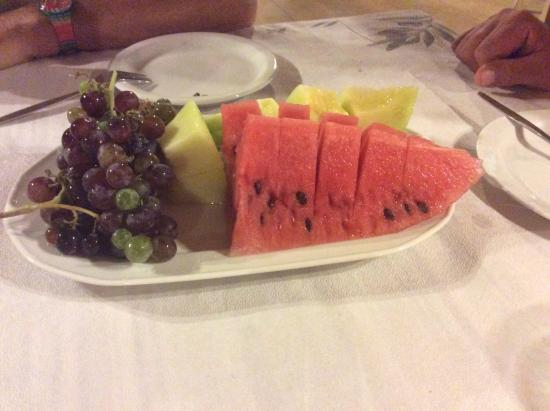 Panorama Hotel: A typical complimentary offering with our meal