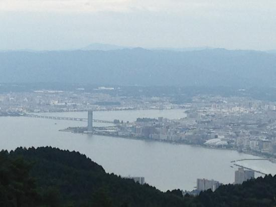 Hieizan Driveway: ドライブウェイから琵琶湖を望む