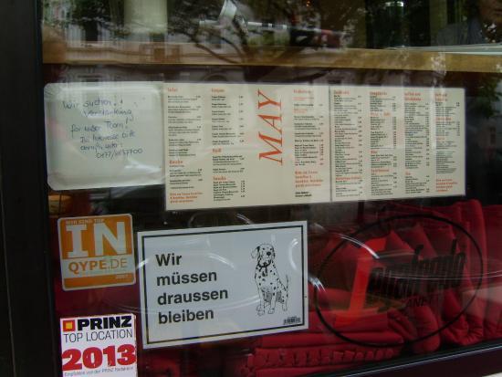 Cafe May Barmbek Speisekarte