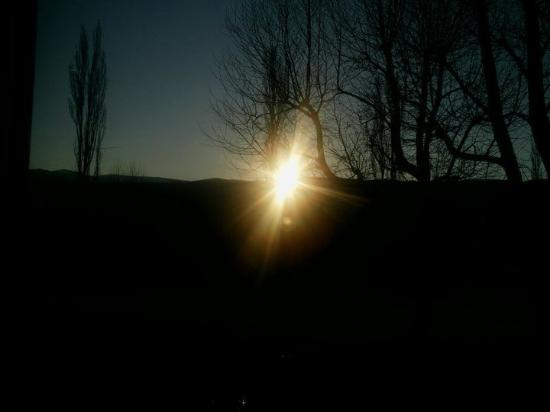 Chalet del Golf: Aparece el sol a las 9 am!!!
