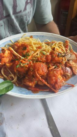 Solanas, إيطاليا: Spaghetti con aragosta